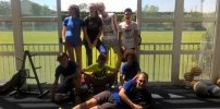 Trening u teretani i na bazenu